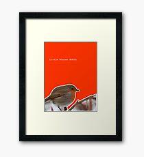 Chilly Winter Robin Framed Print