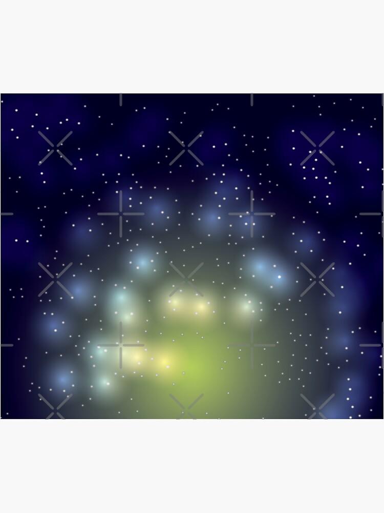 Yellow Glowing Galaxy Starry Night Sky by chanzds
