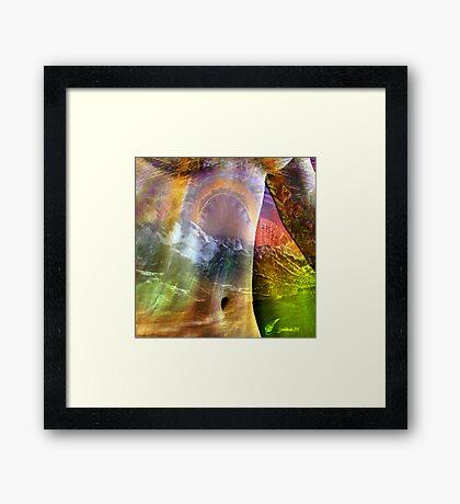 World nipple Framed Print