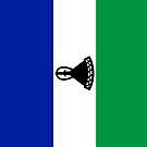 Lesotho Flag by pjwuebker