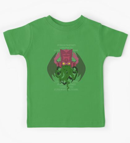 Cthulhuactus (with text) Kids Clothes