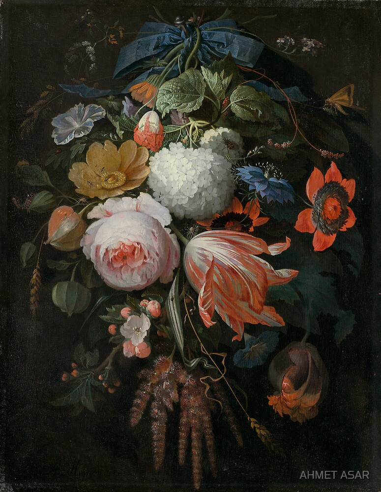 Abraham Mignon A Hanging Bouquet of Flowers probably 1665 by MotionAge Media