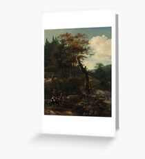 Adam Pynacker Wooded Landscape with Travelers late 1640s Greeting Card