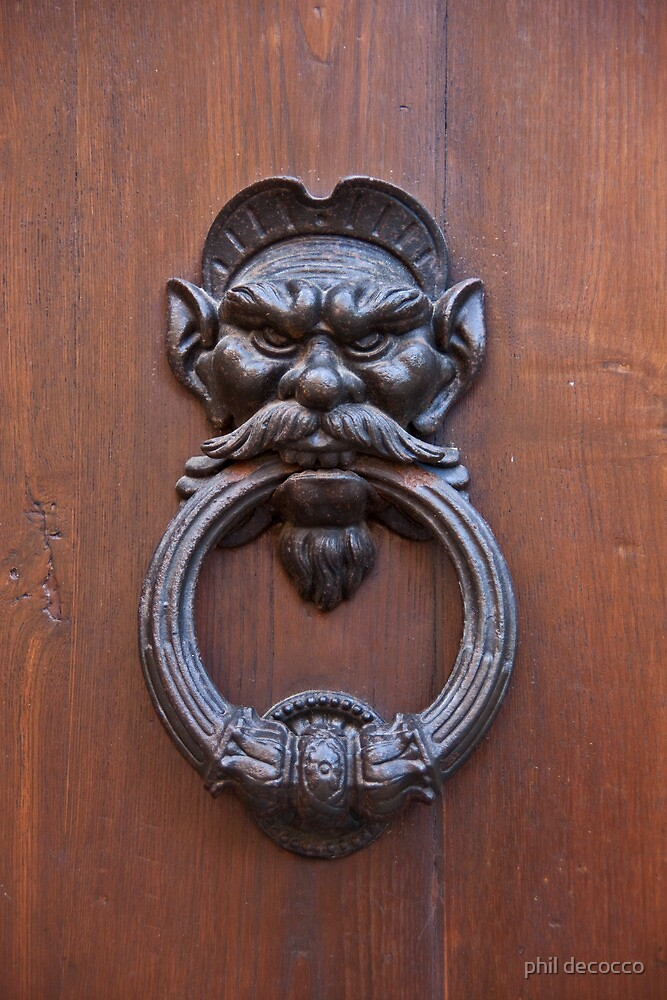 Mustachioed Knocker by phil decocco