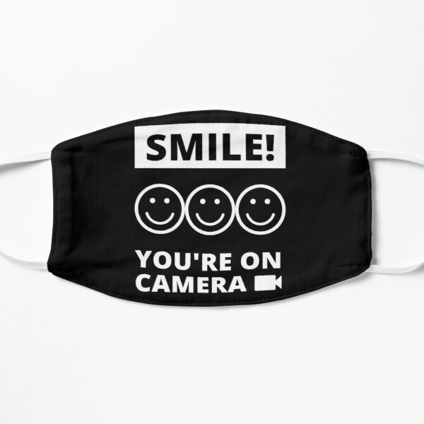 Smile You're On Camera Flat Mask