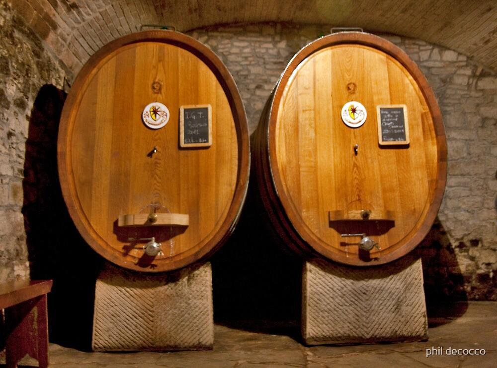 Wine Cellar Twins by phil decocco