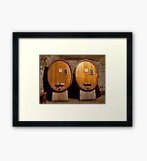 Wine Cellar Twins Framed Print