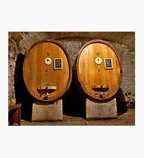 Wine Cellar Twins Photographic Print