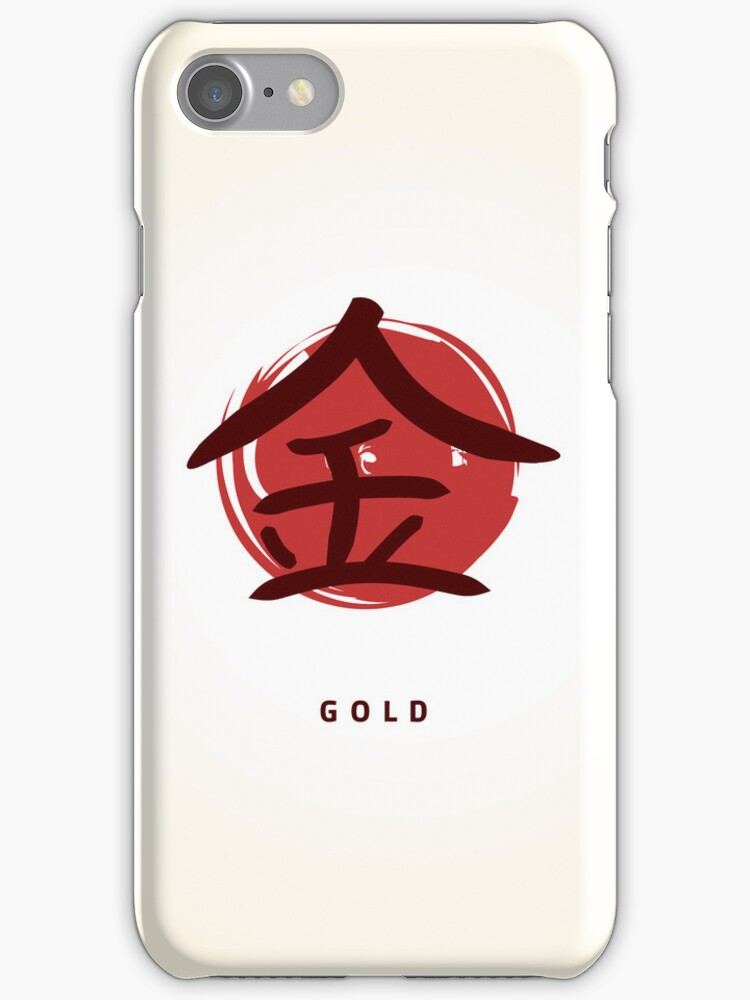 Kanji gold sign by Alejandro Durán Fuentes