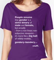 Wibbly-Wobbly, Gendery-Bendery Women's Relaxed Fit T-Shirt