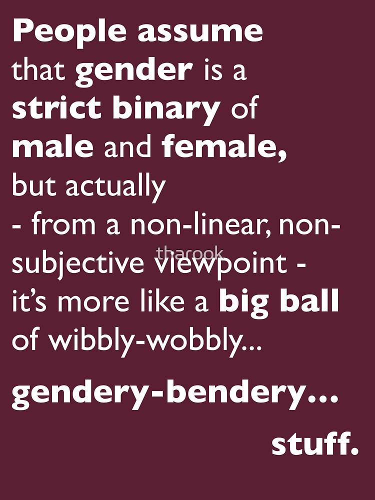 Wibbly-Wobbly, Gendery-Bendery | Unisex T-Shirt