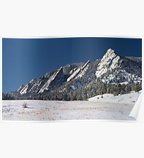 Snow Dusted Flatirons Boulder Colorado Panorama Poster