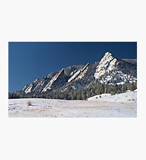 Snow Dusted Flatirons Boulder Colorado Panorama Photographic Print