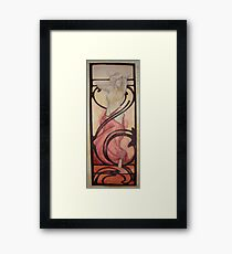 Born in fire (Alphone Mucha inspire) Framed Print