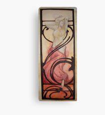 Born in fire (Alphone Mucha inspire) Canvas Print
