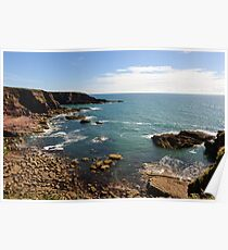 A cove at Brownstown Head, County Waterford, Ireland Poster