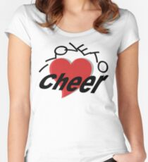 I Love To Cheer Women's Fitted Scoop T-Shirt