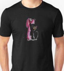 Stressie Cat & the Pink Dog T-Shirt