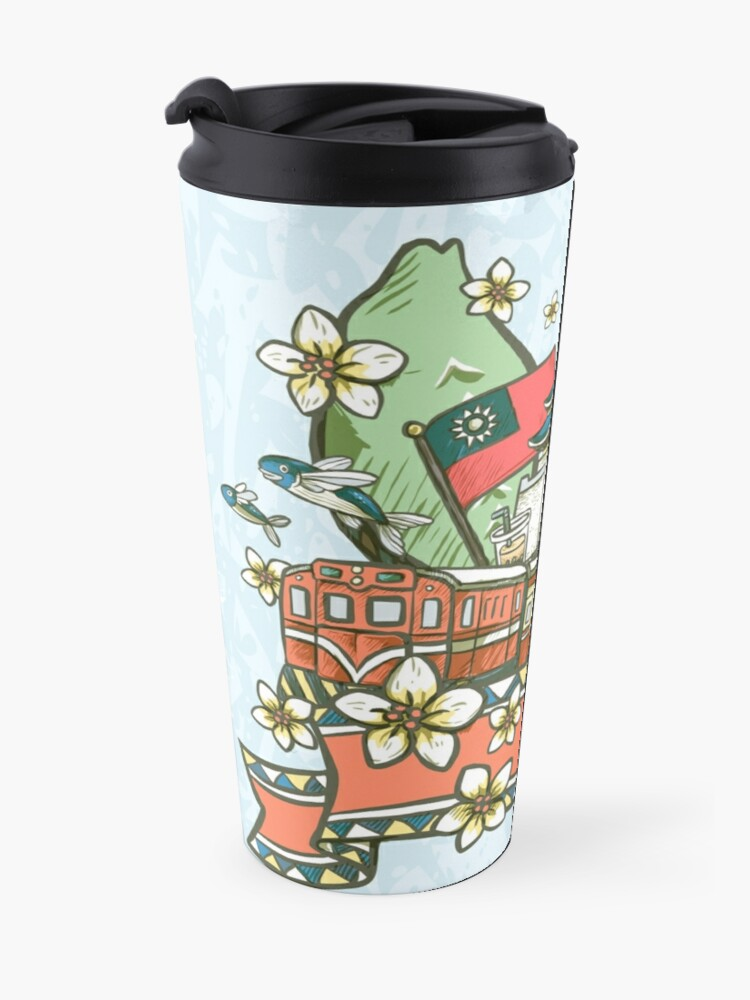 Alternate view of Lovely Taiwan cultural illustration  Travel Mug