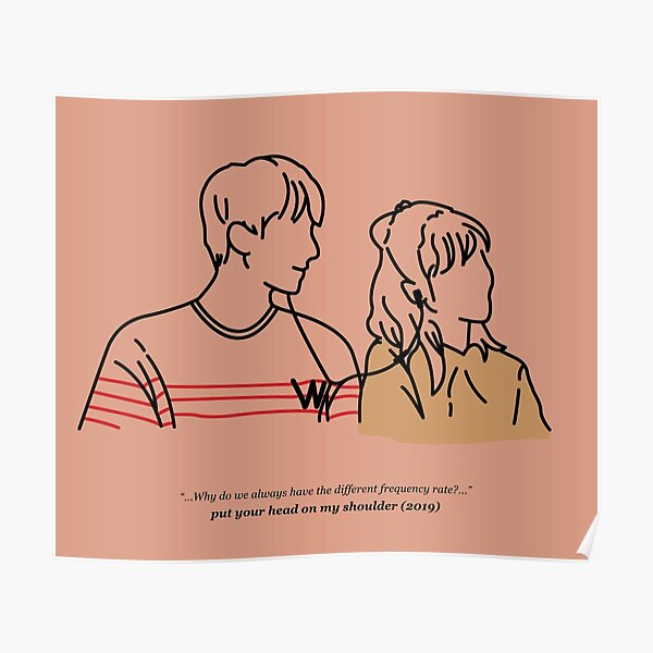 Put Your Head On My Shoulder (Soft Pink) Poster