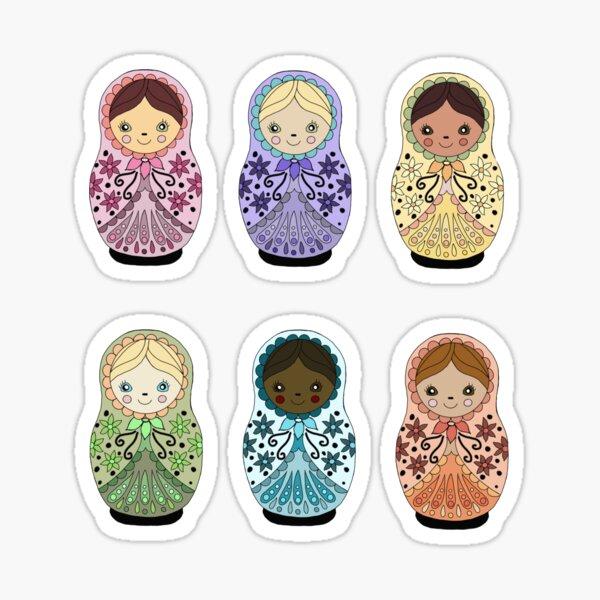 Russian Matryoshka Doll Design Sticker