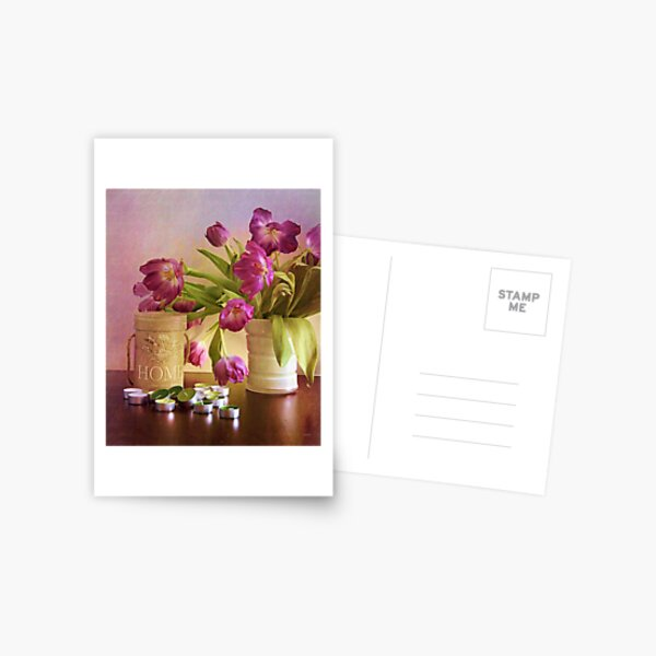 Tulips and candles Postcard