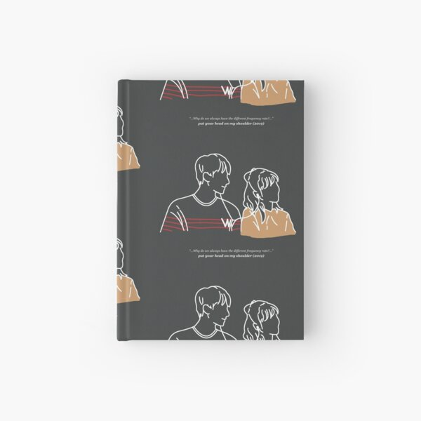 Put Your Head On My Shoulder (Charcoal Grey) Hardcover Journal