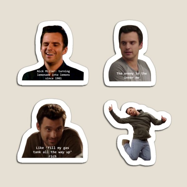 New Girl Nick Sticker Pack Magnet