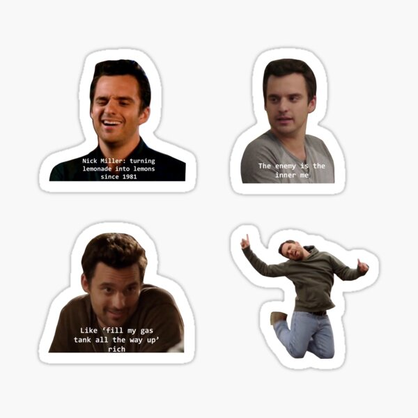 New Girl Nick Sticker Pack Sticker
