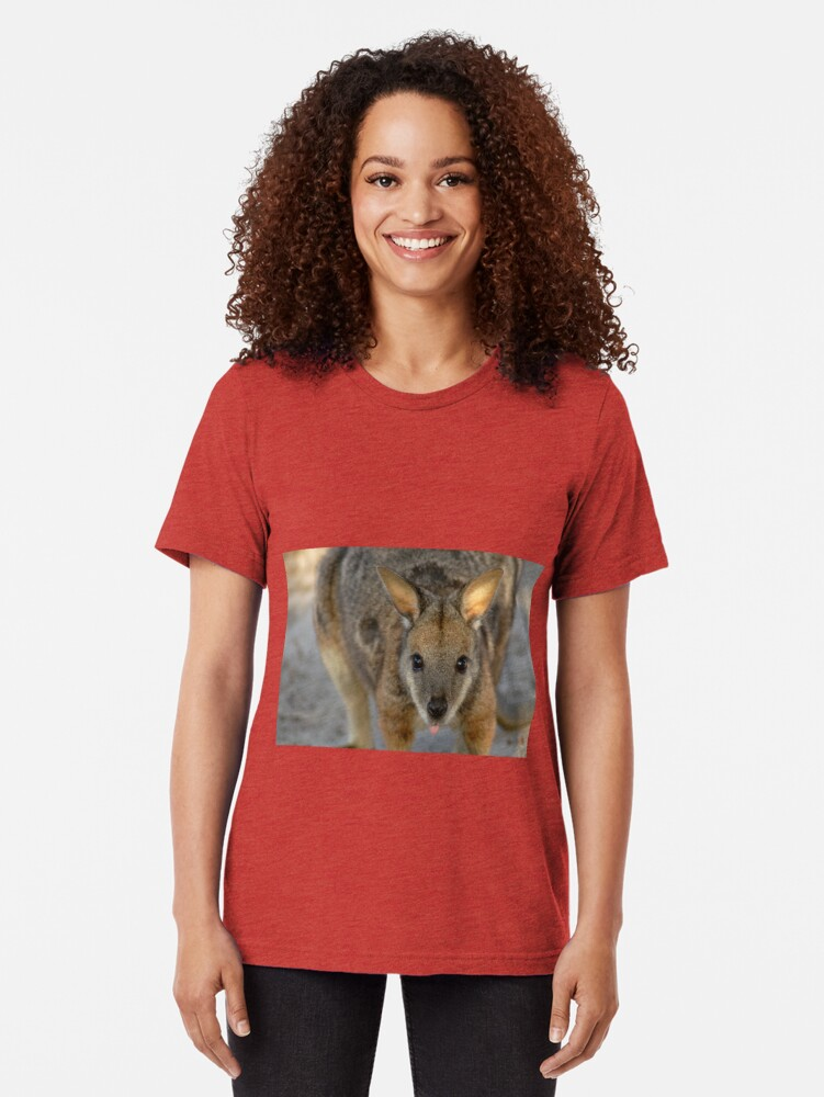 Alternate view of Tammar Wallaby Tri-blend T-Shirt