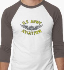 Army Aviation (t-shirt) Men's Baseball ¾ T-Shirt