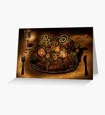 Birthday cake nr 40 Greeting Card