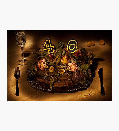 Birthday cake nr 40 Photographic Print