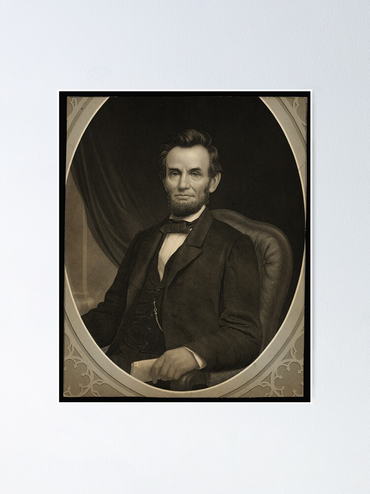 Alternate view of Portrait of Lincoln holding a document in his left hand, facing slightly left Poster