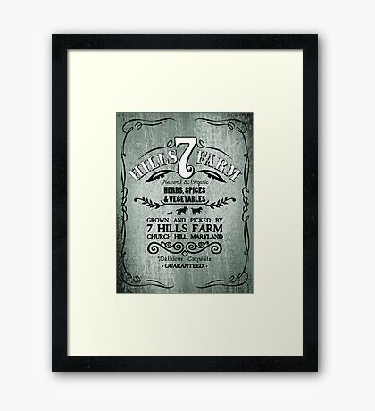 7 HILLS FARM Framed Print