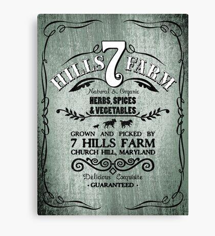 7 HILLS FARM Canvas Print