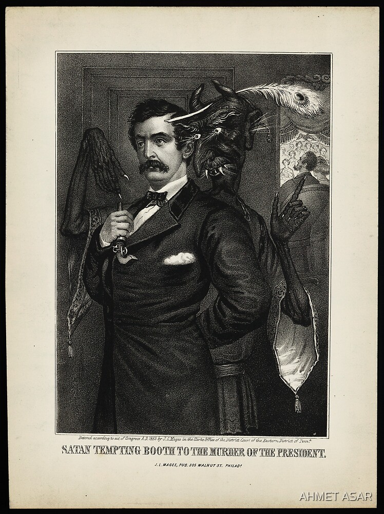 Satan tempting Booth to the murder of the President, [Magee Portrait of Booth]. by MotionAge Media