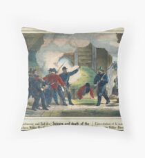 Seisure and death of the murderer Wilkie Booth Throw Pillow