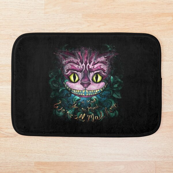 Cheshire Cat from Alice in Wonderland Bath Mat