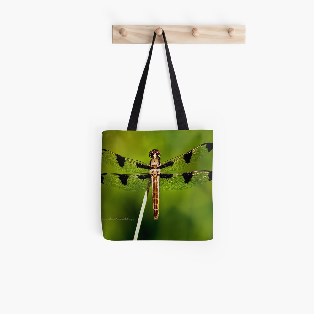 Dragonfly of the enchanted forest by Yannis Lobaina  Tote Bag