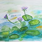 lilies in the pond by Anita Wann