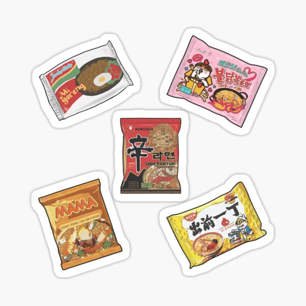 Pack d'autocollants pour buffet Ramen Sticker