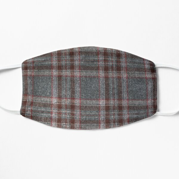 Grey and Red Tartan Mask