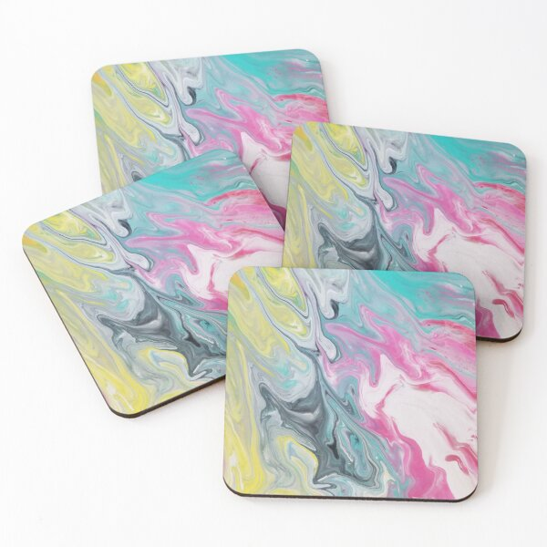 Cotton candy Coasters (Set of 4)