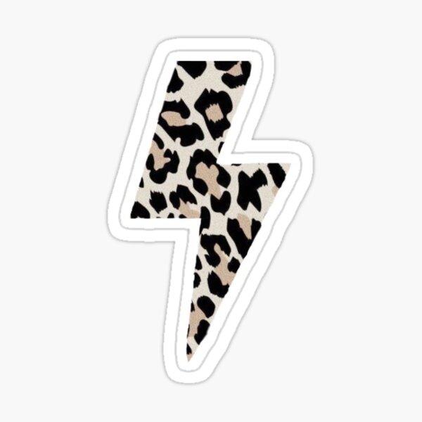 Cheetah print lightening bolt Sticker
