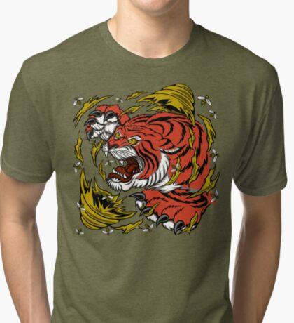 TIGER BEE ATTACK Tri-blend T-Shirt