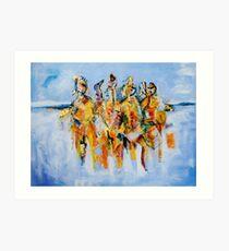 Maasai Warriors Art Print