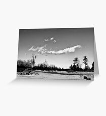 Clouds Ove a Cement Mixer Greeting Card