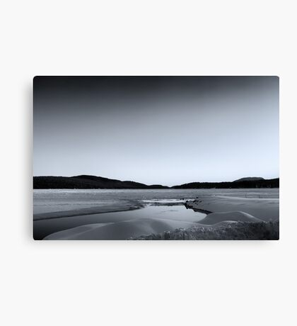 Boat Launch SnowDrifts Canvas Print