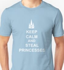 Keep Calm And Steal Princesses White Crown T-Shirt
